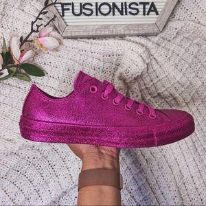 NWT 🍭 Converse Chuck All Stars Hot Pink Glitter